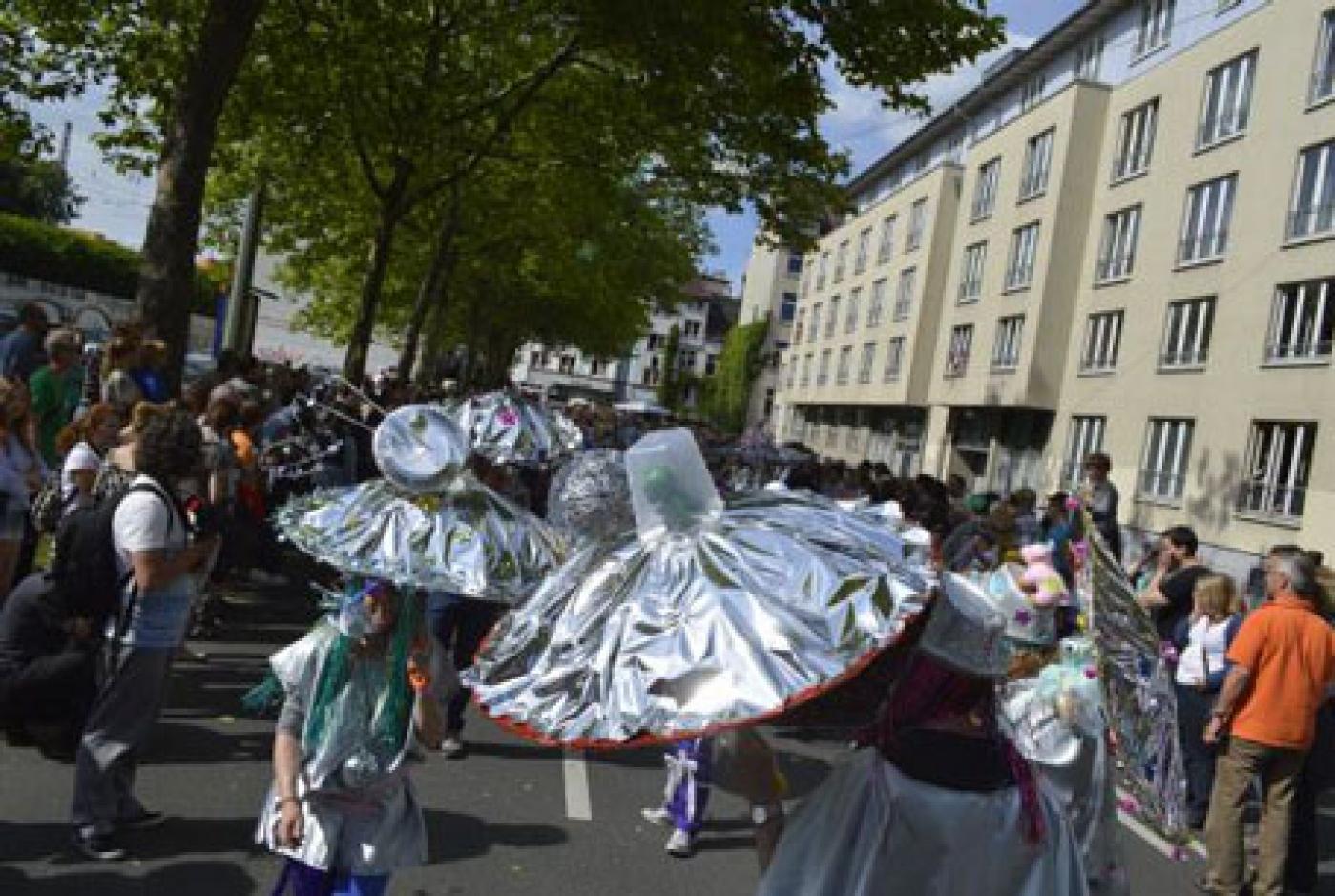 In einer Bildershow konnten Interessierte einen Rückblick auf sechs Jahre Carnival der Kulturen erleben