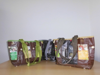 Taschen aus Kaffeetüten