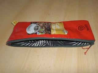 Reißverschlusstasche aus Kaffeetüten