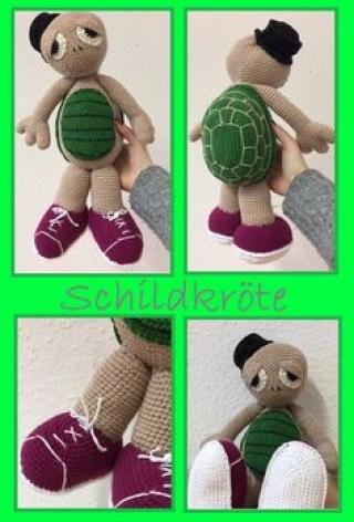 Schildkröte mit Turnschuhe
