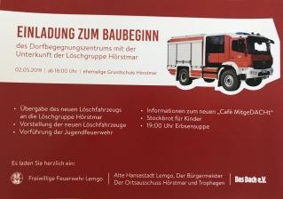 Einladung zum Baubeginn des Begegnungszentrums in Hörstmar