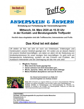 Anderssein & Ändern am 4. März 2020