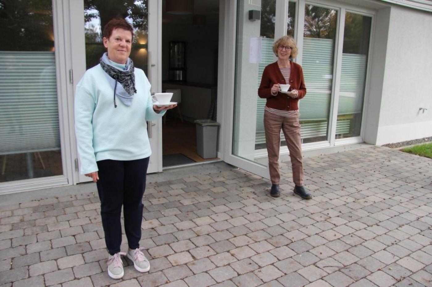 Der Café-Betrieb wird in Hörstmar schon geprobt